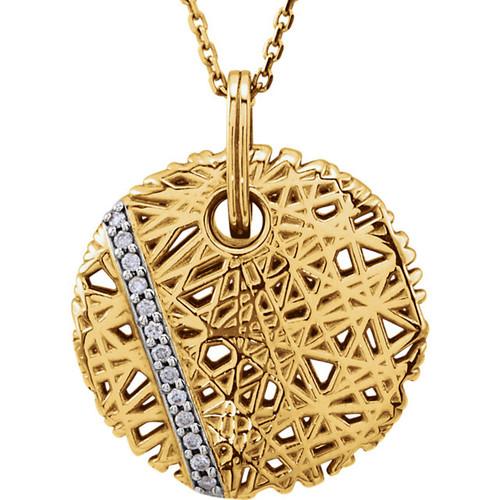 "14kt Yellow Gold ""Nest"" Diamond Accent Pendant"