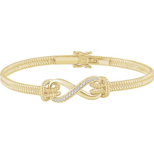14kt Gold Infinity Symbol Rope Bracelet