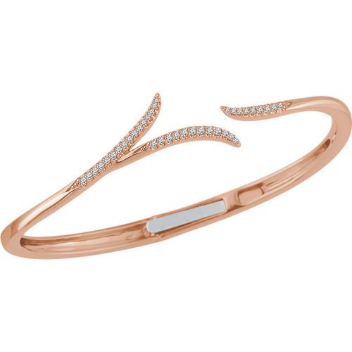 14kt Gold Free-Form Hinged Cuff Bracelet
