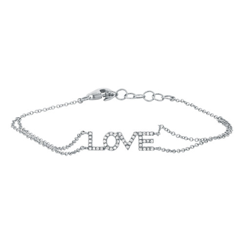 "14kt Gold Diamond ""LOVE"" Bracelet"