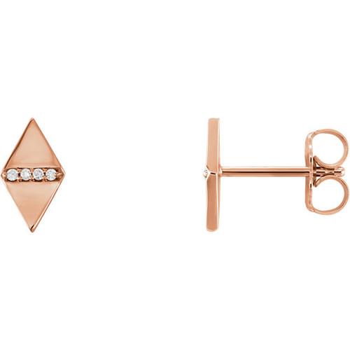 14kt Gold Geometric Stud Earrings