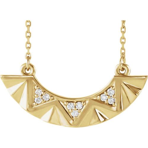 14kt Gold Geometric Diamond Bar Necklace