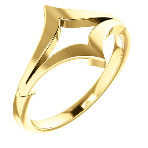 14kt Gold Negative Space Chevron Ring