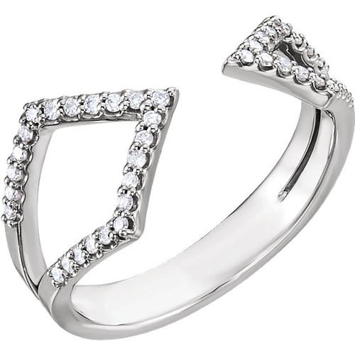 14kt Gold Negative Space Geometric Diamond Ring