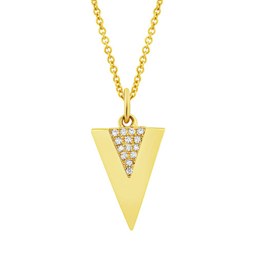 14kt Gold Double Triangle Pendant