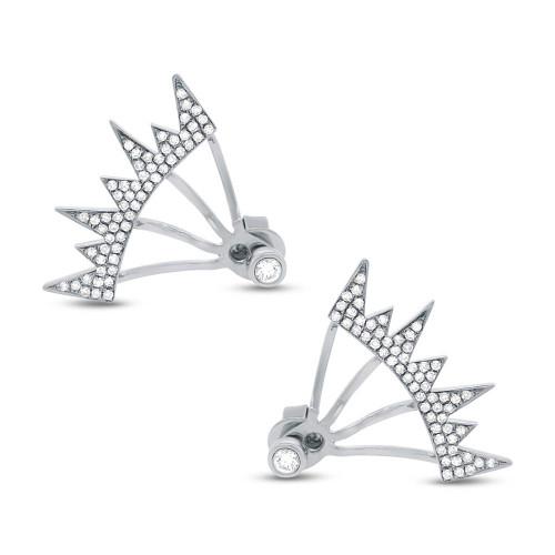14kt Gold Geometric Stalactite Earrings Jackets