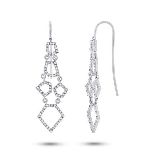 14kt Gold Free-Form Geometric Chandelier Earrings