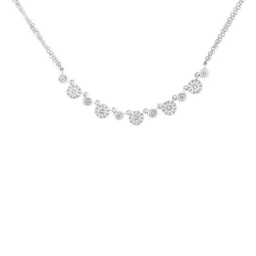 14kt Gold Cluster Choker Necklace