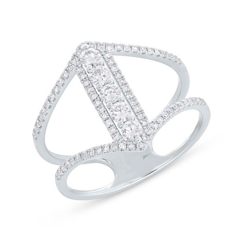 14kt Gold Negative Space Diamond Ring