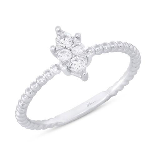 14kt Gold Cluster Promise Ring