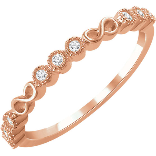 14kt Gold Infinity Stackable ring