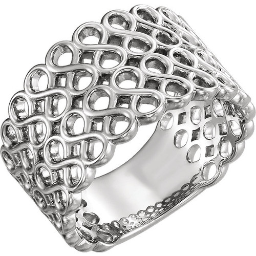 14kt Gold Two-Row Infinity ring