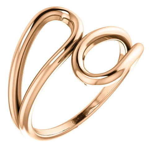 14kt Gold Infinity Bypass Ring