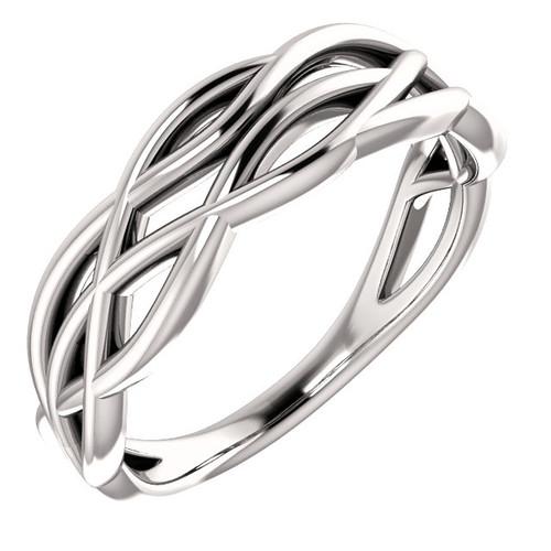 14kt Gold Free-form Twist Ring