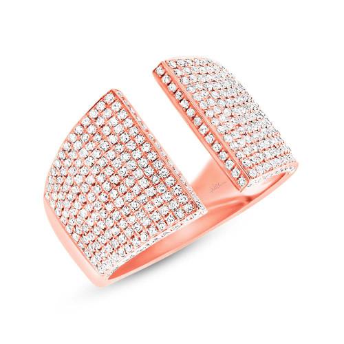 14kt Gold Pave Diamond Cuff Ring