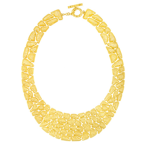 14kt Yellow Gold Cobblestone Cleopatra Necklace