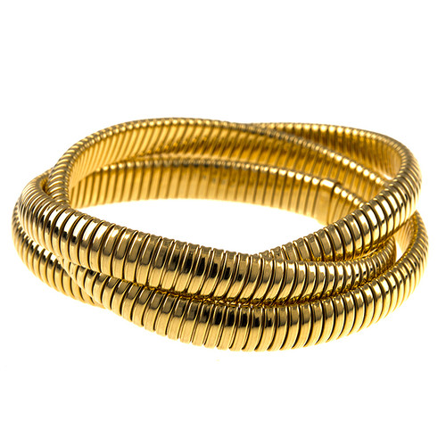 18kt Yellow Gold Flexible Rolling Bracelets