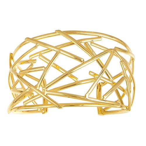 18kt Yellow Gold Bird Nest Cuff Bracelet