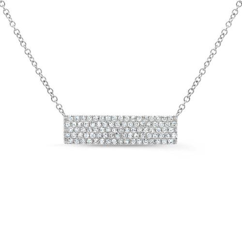 14k White Gold Diamond Pave Necklace