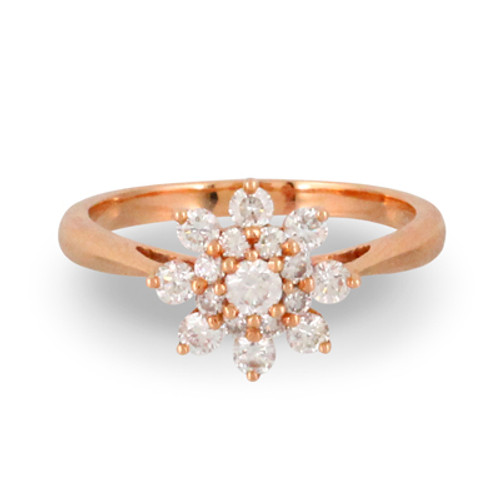 18K Rose Gold Engagement ring - Little Bird Collection