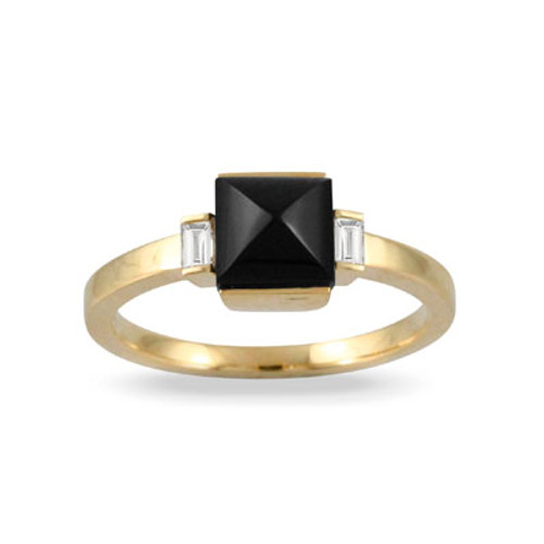 18k Yellow Gold Three-stone Engagement ring - Little Bird Collection