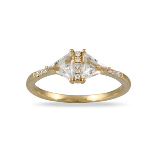 18k Yellow Gold  Engagement ring - Little Bird Collection
