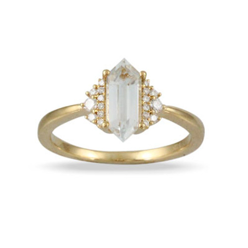 18k Yellow Gold WT  Engagement Ring - Little Bird Collection