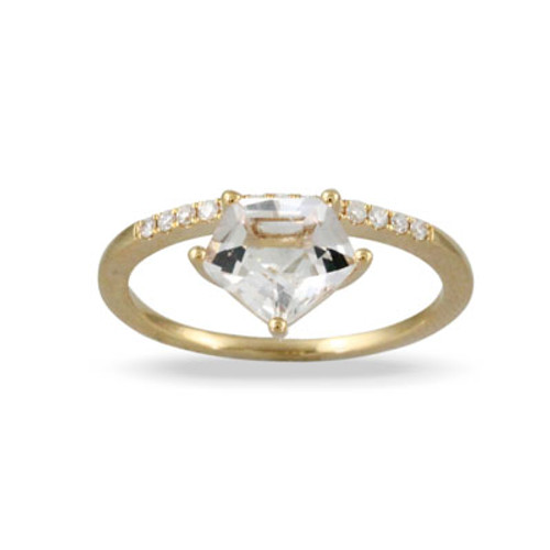 18k Yellow Gold Solitaire Engagement ring - Little Bird Collection