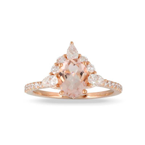 18K Rose Gold  Half Halo Engagement ring - Little Bird Collection