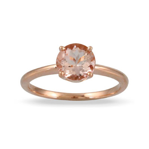 18K Rose Gold Solitaire Engagement ring - Little Bird Collection
