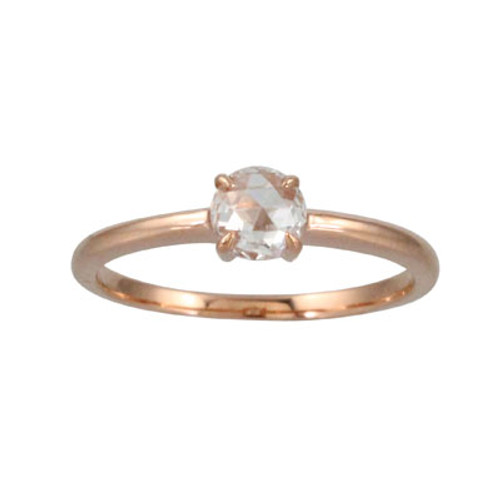 18K Rose Gold Diamond Solitaire Engagement ring - Little Bird Collection
