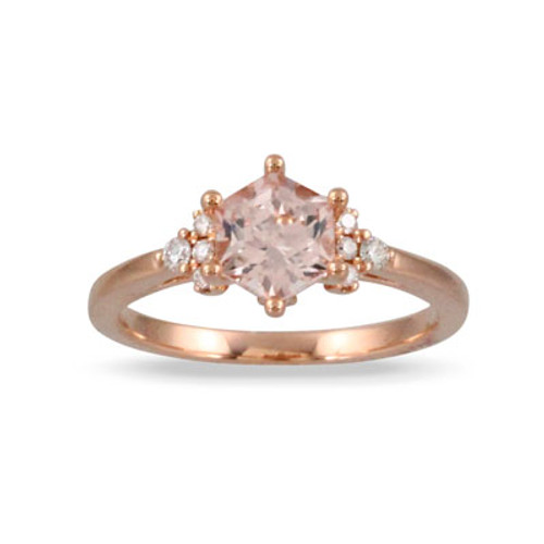 18K Rose Gold MG Engagement ring With Diamonds - Little Bird Collection