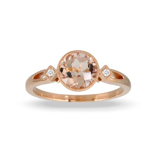 18K Rose Gold MG Bezel Engagement ring - Little Bird Collection