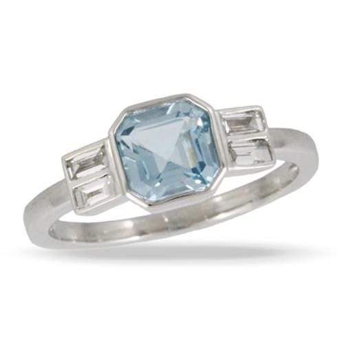 18K White Gold  BT Engagement Ring - Little Bird Collection
