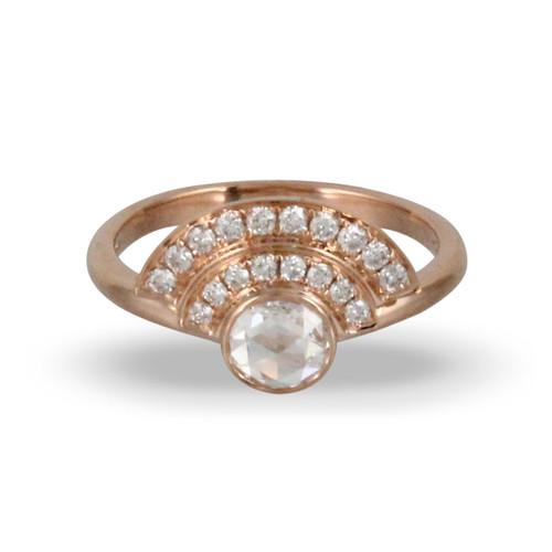 18K Rose Gold Diamond Ring - Little Bird Collection