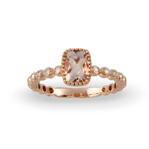 18K Rose Gold Morganite Stone Engagement ring - Little Bird Collections