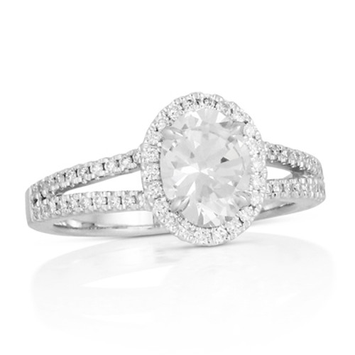 18K White Gold CZ Engagement ring - Little Bird Collection