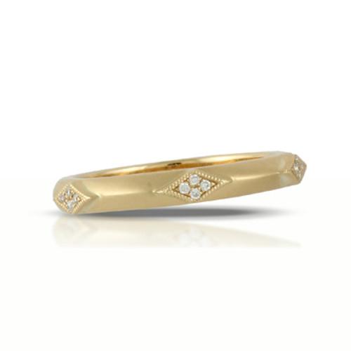 18K Yellow Gold Diamond Band - Little Bird Collection