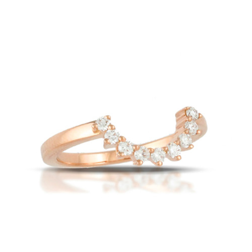 18K Rose Gold Diamond Band - Little Bird Collection