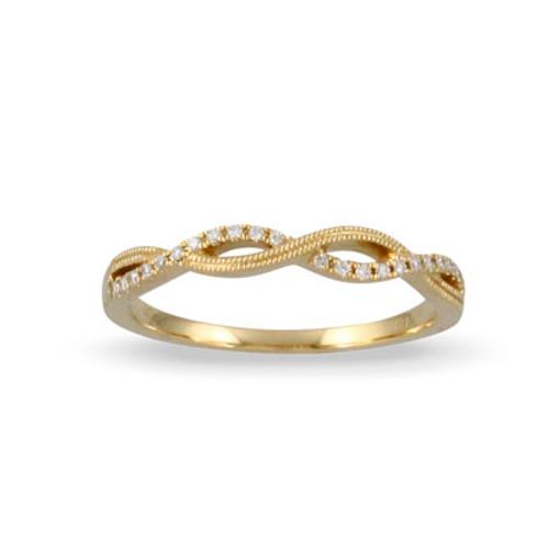 18k Yellow Gold Diamond Ring - Little Bird Collection