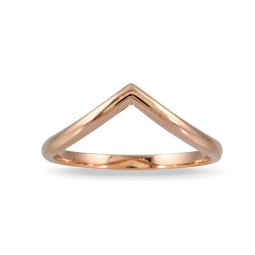 18K Rose Gold Band - Little Bird Collection