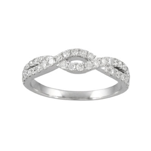 18K White Gold Wedding Band Sets With Diamonds - Little Bird Collection