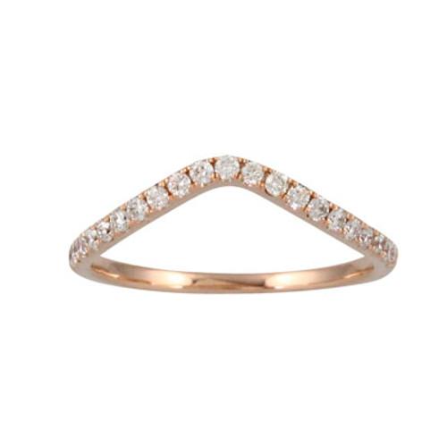 18K Rose Gold Diamond Wedding Ring - Little Bird Collection