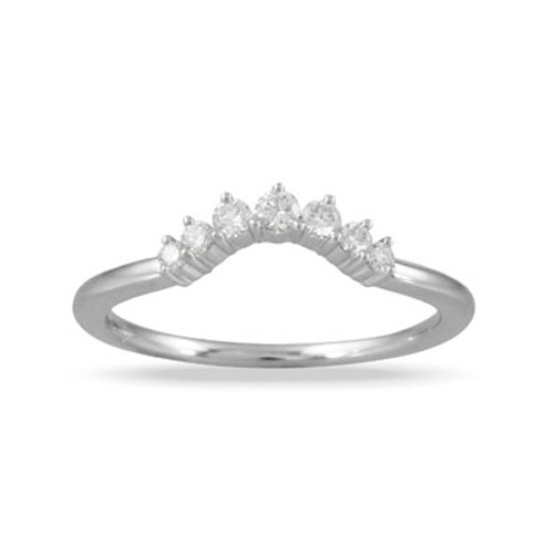 18K White Gold Wedding Band Sets With Diamonds - Little Bird Collections