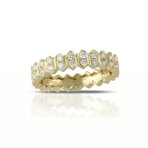 18k Yellow Gold  Diamond Band- Little Bird Collection