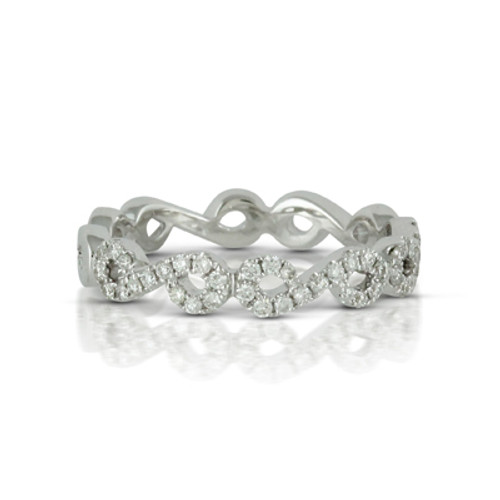 18K White Gold Band Sets with Diamonds - Little Bird Collection