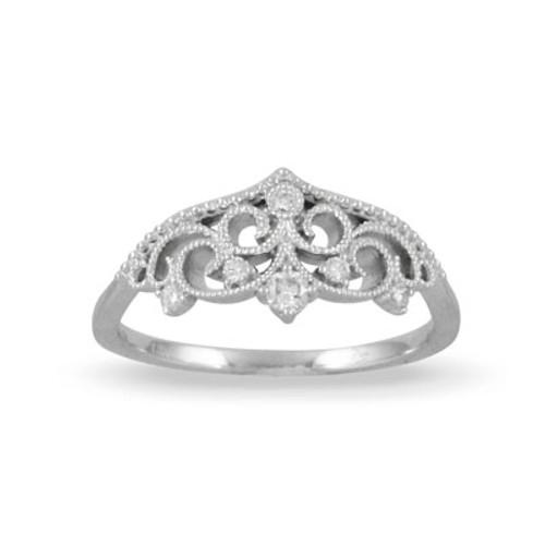 18K White Gold Diamond  Engagement ring - Little Bird Collection