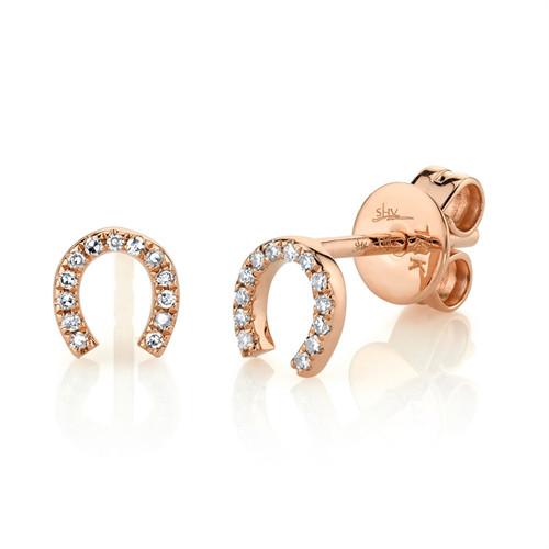 Stud Diamond Earrings 14K Rose Gold