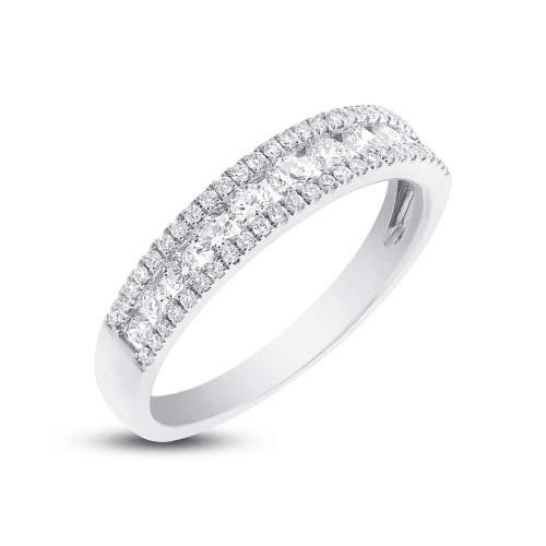 14K White Gold diamond Lady's Band