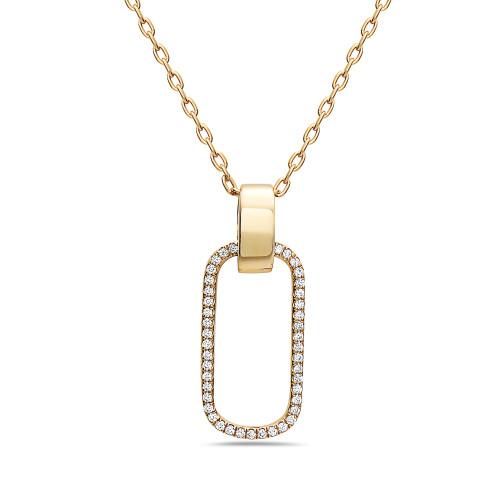 18K Diamond Shiny Gold Pendant